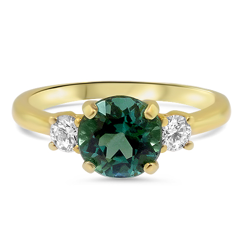 Blue Green Tourmaline Ring