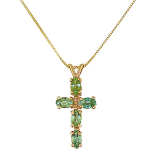 Green Tourmaline Cross