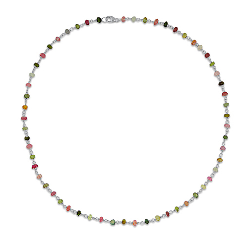 Silver Wired Tourmaline Necklace