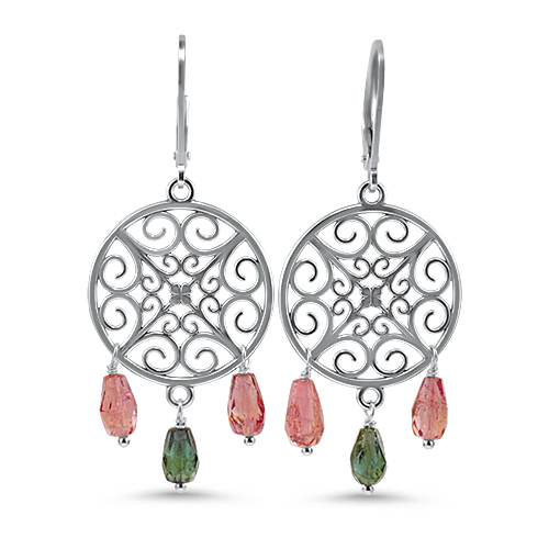 Dream Catcher Tourmaline Earrings
