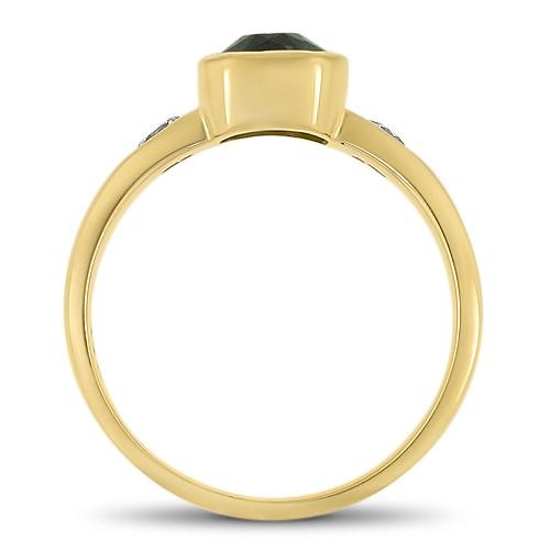 Blue Tourmaline Ring Profile