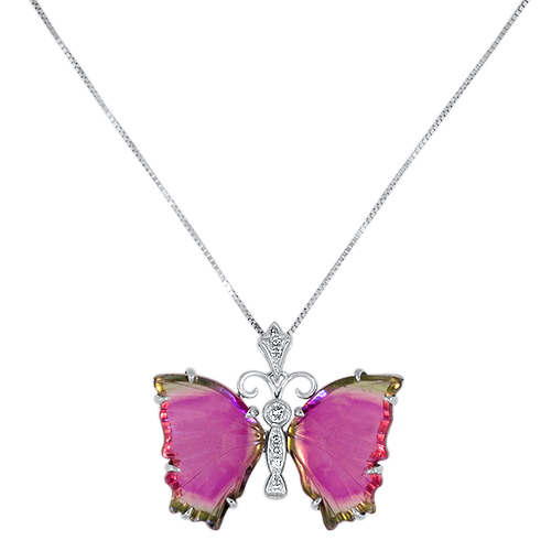 Watermelon Tourmaline Butterfly