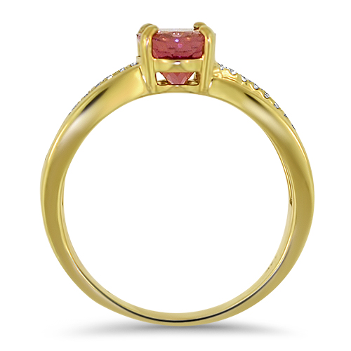 Pink Tourmaline Ring Profile