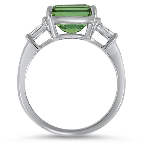 Maine Green Tourmaline Ring Profile
