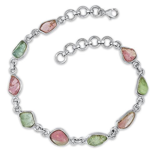 Silver Maine Tourmaline Bracelet