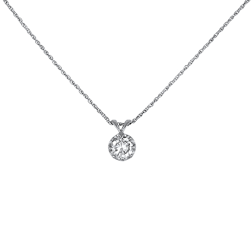 Estate Diamond Drop Necklace