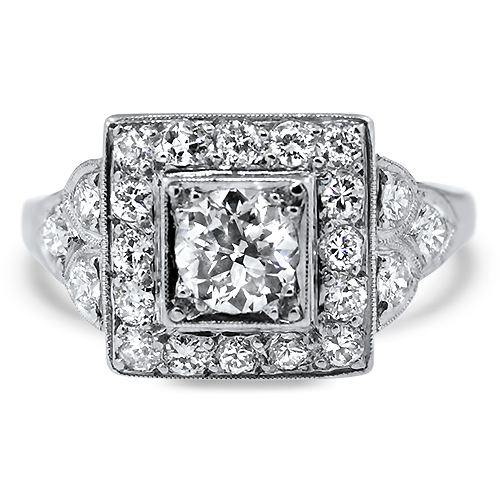 Platinum Diamond Estate Ring
