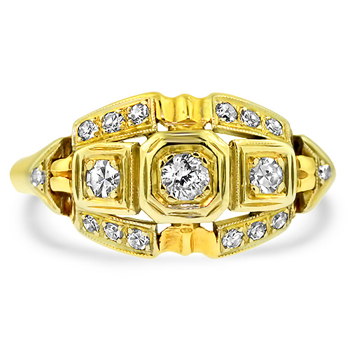 Vintage Estate Ring Yellow Gold