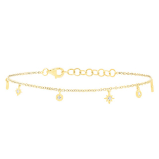 Star and Circle Bracelet