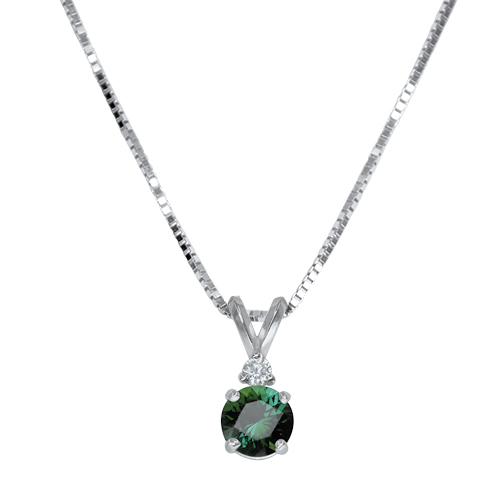 Maine Green Tourmaline Pendant