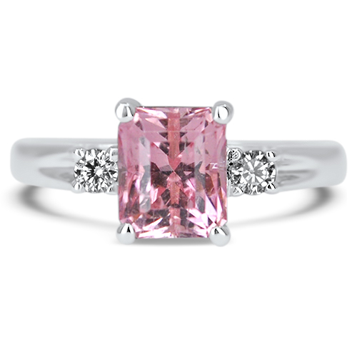 maine pink tourmaline ring