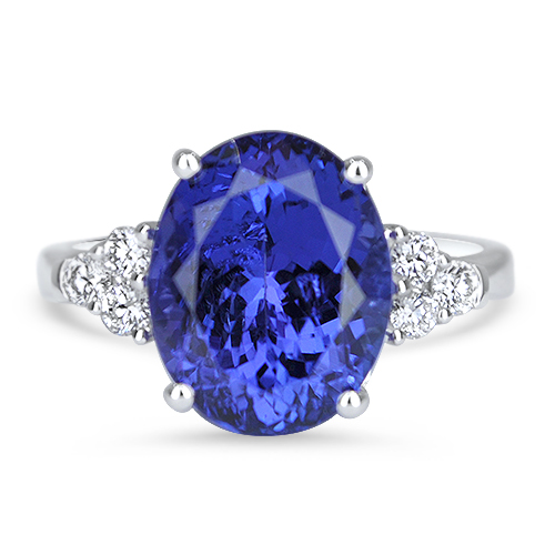 Tanzanite and Diamond Ring 18KW