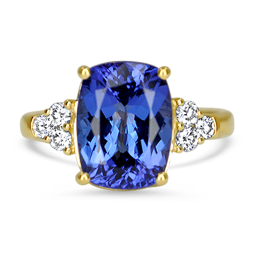 Tanzanite and Diamond Ring 18KY