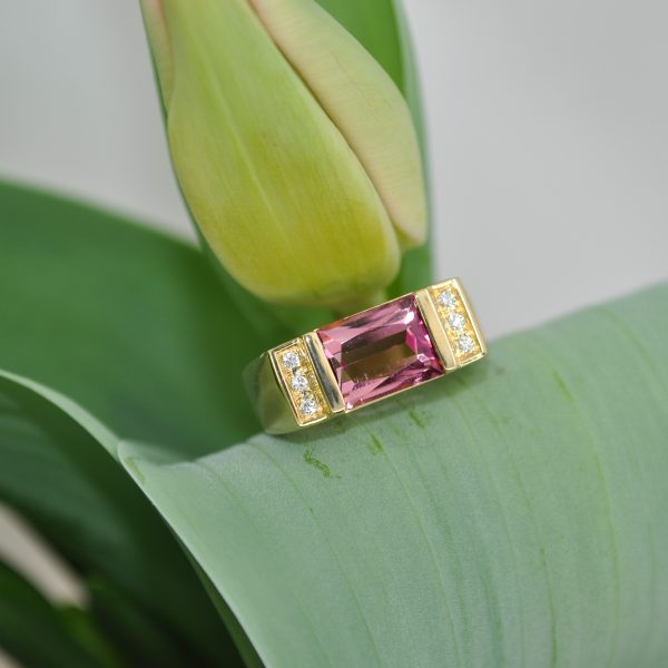 beacon of light ring pink tourmaline