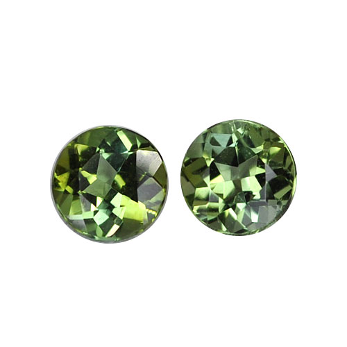 1.38ct Green Tourmaline Round Loose Pair