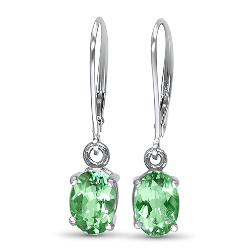 mint tourmaline dangle earrings in 14kw