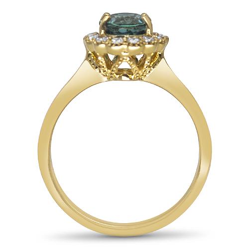blue green tourmaline ring profile