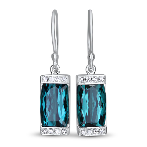 Beacon of Light Blue Earrings in 14KW