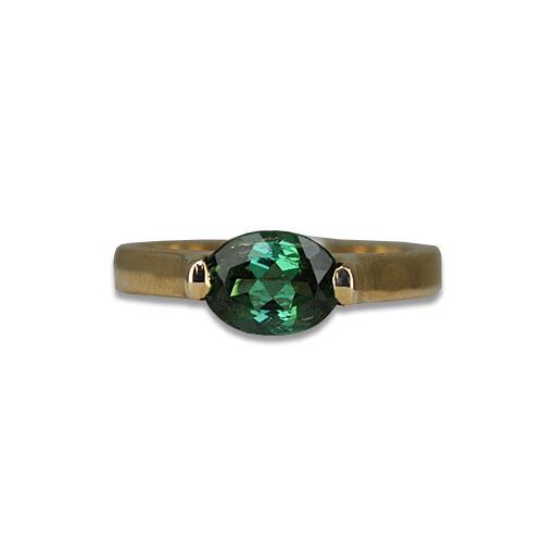 Green Tourmaline 14KY Ring