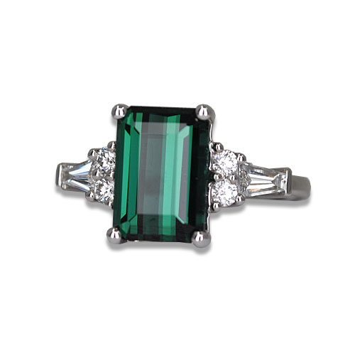 Maine Blue Green Tourmaline Ring