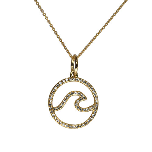 Yellow Gold and Diamond Wave