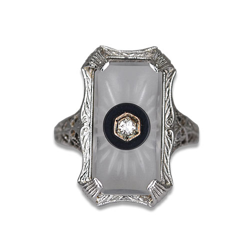 Vintage Camphor Glass Ring