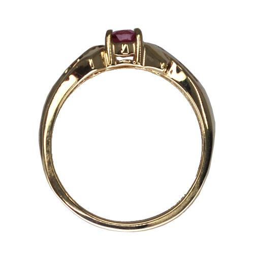 Pink Tourmaline and Diamond Ring Profile