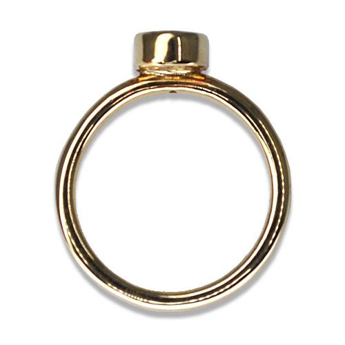 bezel oval ring profile 14ky