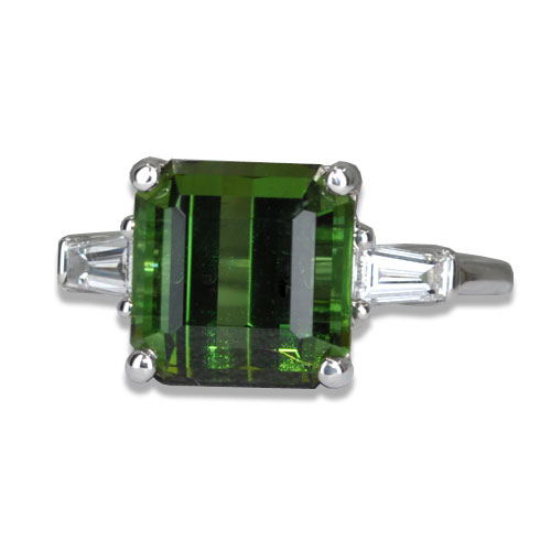 maine green tourmaline ring