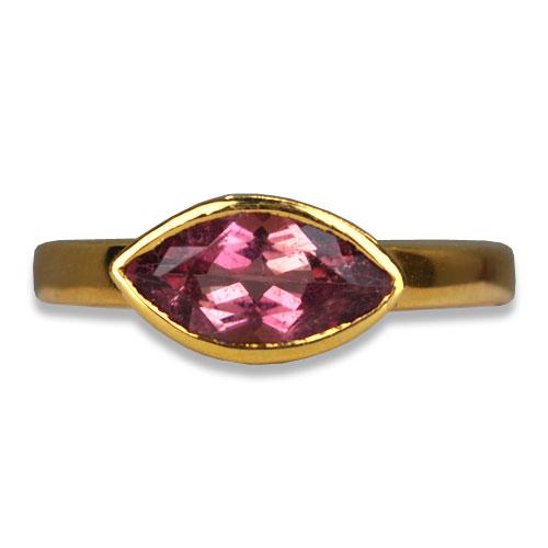 Maine pink tourmaline ring