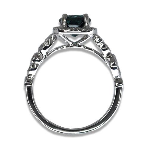 Blue Tourmaline and Diamond Ring Profile