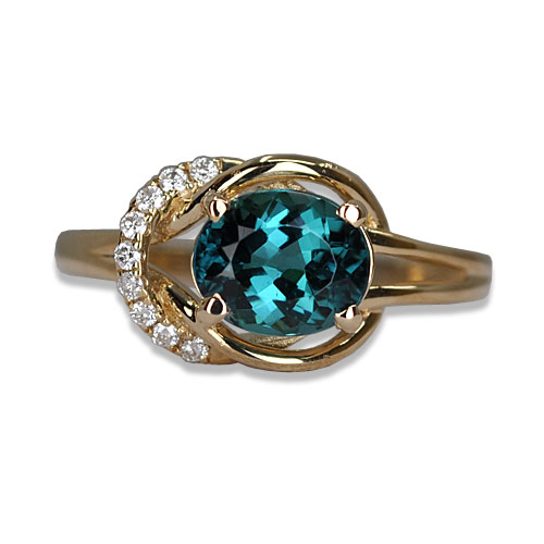 blue tourmaline ring e/w