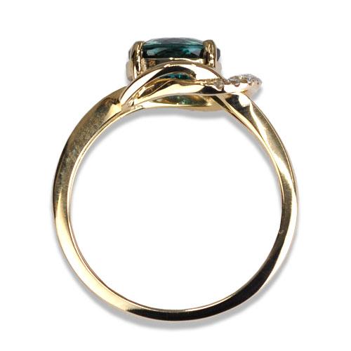 e/w blue tourmaline ring profile
