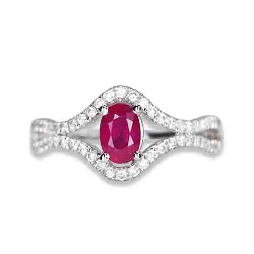 ruby and diamond ring 14kw